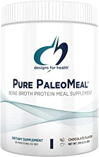 Designs for Health Pure PaleoMeal - Bone Broth Protein Powder with 17g Protein, Meal Replacement Shake Dietary Supplement ...