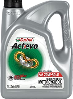 Best Castrol 03168 Actevo Xtra 20W-50 4-Stroke Motorcycle Oil - 1 Gallon, (Pack of 3) (3139) Review