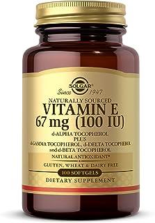 Solgar Vitamin E 67 mg (100 IU), 100 Mixed Softgels - Natural Antioxidant, Skin & Immune System Support - Naturally-Source...
