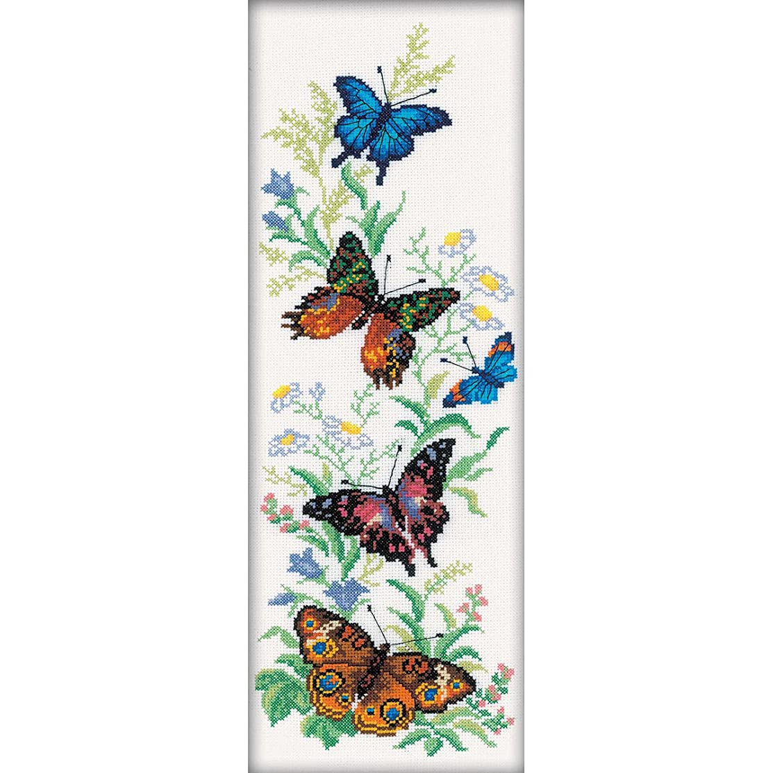 RTO M147 14 Count Flying Butterflies Counted Cross Stitch Kit, 6.25 by 17.75-Inch