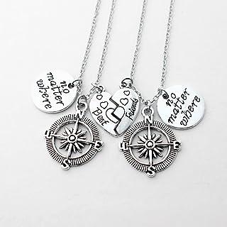 2PCS BBF Best Friends collana Dove Compass Split Cuore Spezzato Gift Collana Alfabeto