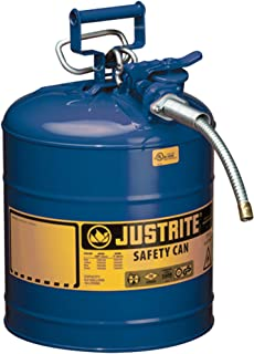 Justrite AccuFlow 7250320 Type II Galvanized Steel Safety Can with 5/8