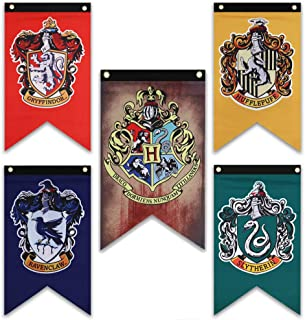 Harry Potter House Wall Banners - Complete Hogwarts House Wall Banner - Perfect Indoor Outdoor Party Flag - Gryffindor, Sl...