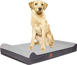 HOPETOR Dog Bed Washable for Large Dog Medium Dog CertiPUR US Orthopedic Memory Foam with Bolsters,Double Waterproof Liner...
