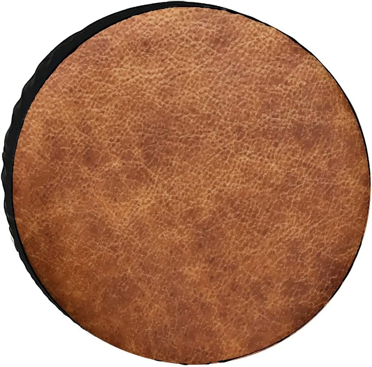 QUAVZI Japan's largest assortment Brown Vintage Faux Leather Pr Tire Background Deluxe Cover Wheel