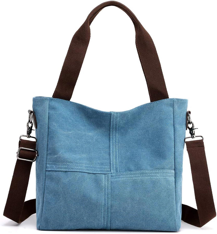 Vintage Canvas Bag, Shoulder Bag Simple Handbag Messenger Bag for Men and Women,blueee