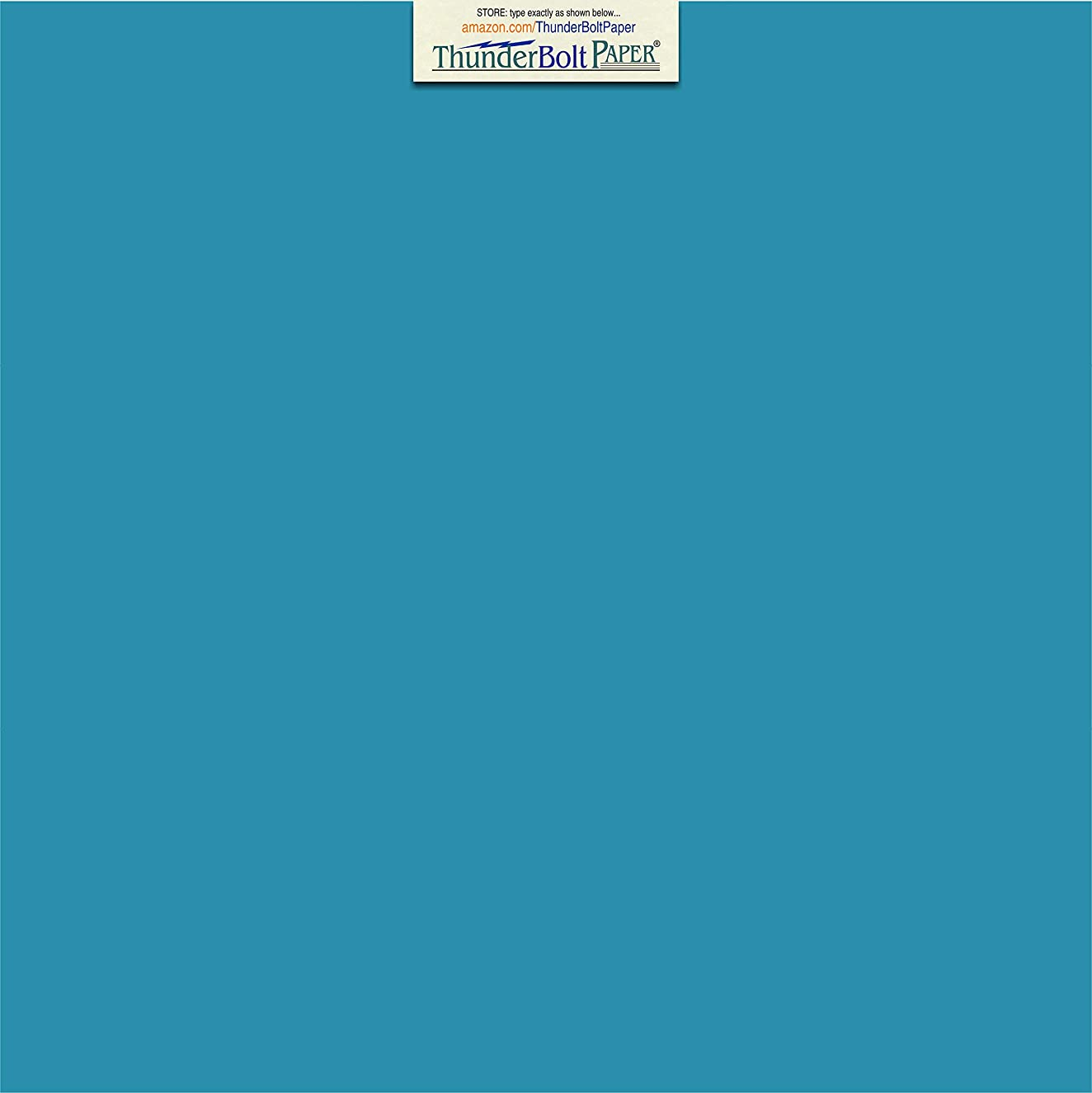100 Bright Aqua Blue Cardstock 65lb Cover Paper 12 X 12 Inches Scrapbook Album Cover Size - 65 lb/pound Light Weight Cardstock - Quality Smooth Paper Surface