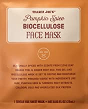 Limited Edition! Trader Joe's Sheet Mask Pumpkin Spice Bio-cellulose Exfoliating
