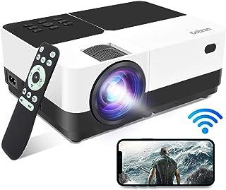 Proiettore WiFi Videoproiettore Supporta 1080P 6500Lumen Full HD Condiviso Schermo Cellulare/Connessione Wireless,Proietto...