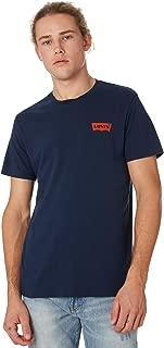 Levi's Men's Graphic Set Mens Tee Crew Neck Short Sleeve Cotton Blue