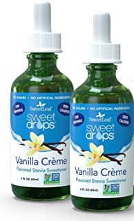Sweetleaf Liquid Stevia Vanilla Cream 2 Oz (2 Pack)