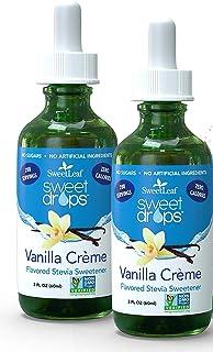 Sweetleaf Liquid Stevia Vanilla Cream 2 Oz (2 Pack)