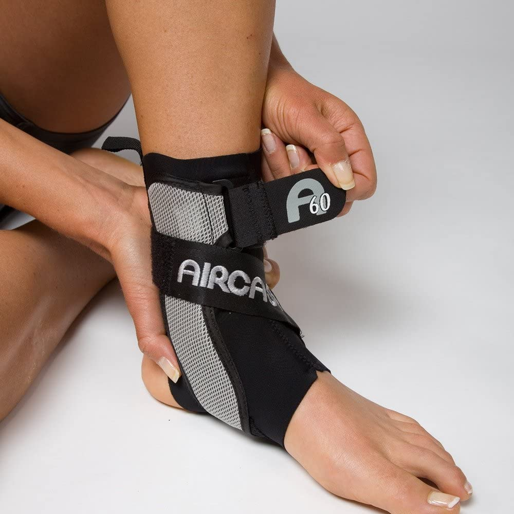Aircast New York Mall A60 Ankle Support Brace Black New item Small Shoe Right Foot