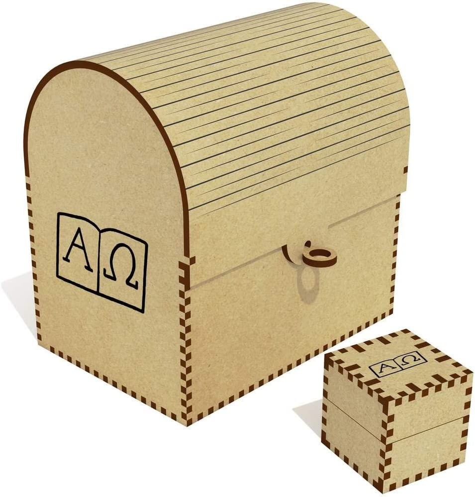 'Alpha Bargain sale Omega free Symbols' Treasure Box Jewellery TC00025115 Chest