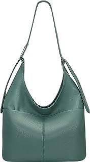 OVER EARTH محفظة جلد طبيعي حقائب للنساء حقيبة هوبو السيدات حقيبة جلدية الكتف حقيبة كبيرة