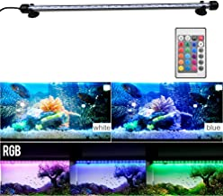Younar Aquarium Light, Fish Tank Light with Remote Control,36 inch LED Light Stick Color Changing Submersible Underwater Aquarium Lamp for Fish Tank, AC110-240V