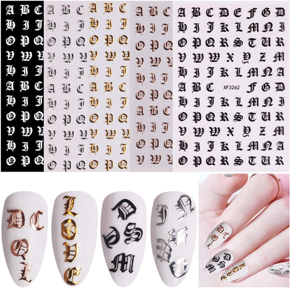 Letter Sales for sale Nail Art Stickers 5 Words Old Alpha Colors overseas English