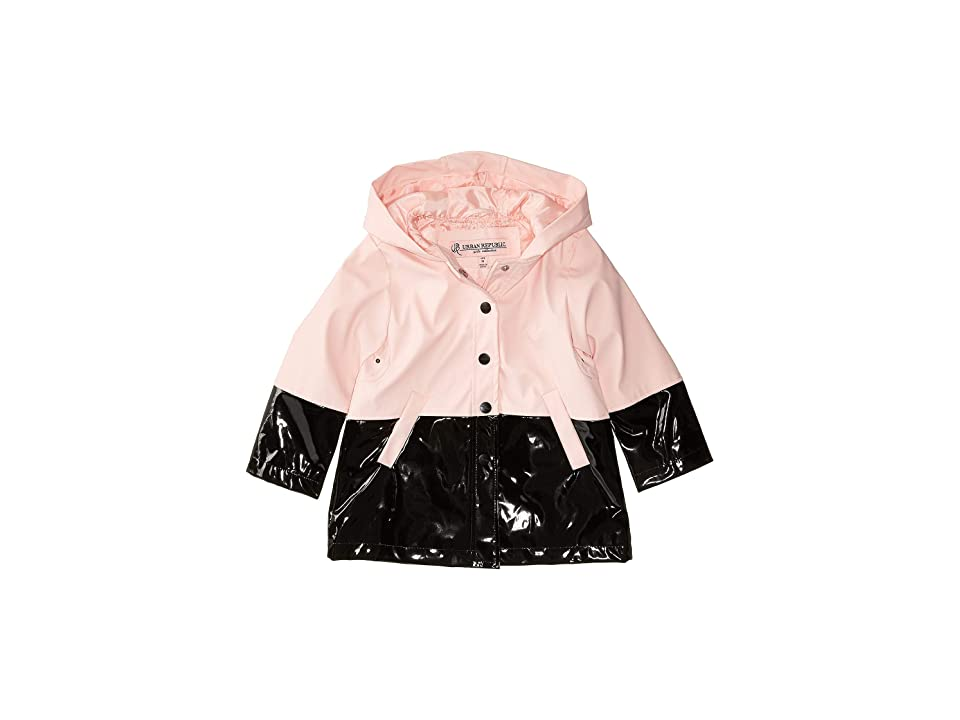 Urban Republic Kids Raincoat Color Block Jacket (Infant/Toddler) (Pink) Girl