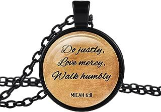 micah 6 8 necklace