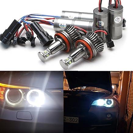 RISHENG 2 Piezas de LED Luz de Ojo de /ángel Luz Blanca 40 W para BMW E60 E61 E71 E70 E90 E91 X5 X6 LCI E92 Z4 X1 luz de Niebla