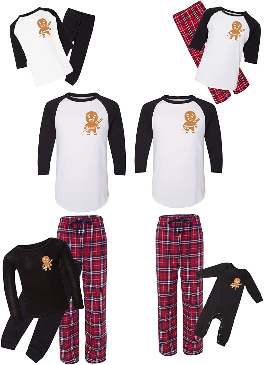 Awkward Styles Elegant Matching Christmas Pajamas Gingerbr Funny Red Special price for a limited time Set