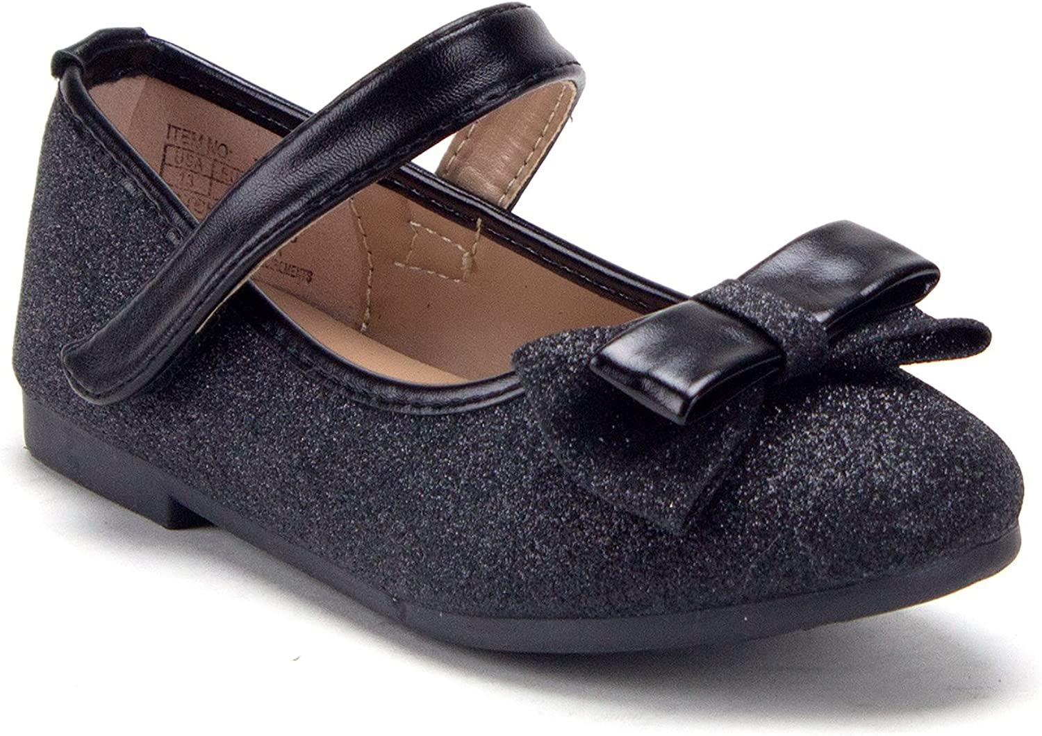 Fort Worth Mall Toddler Little Ranking TOP3 Girls Mary Jane Glitter Flats Ballerina Wh Shoes