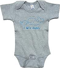 RoyalT Wardrobe Love Daddy Gray Bodysuit Blue Text 65/35 Poly Cotton Blend