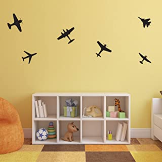 Set of 6 Vinyl Wall Art Decals - Airplanes Patterns - 5