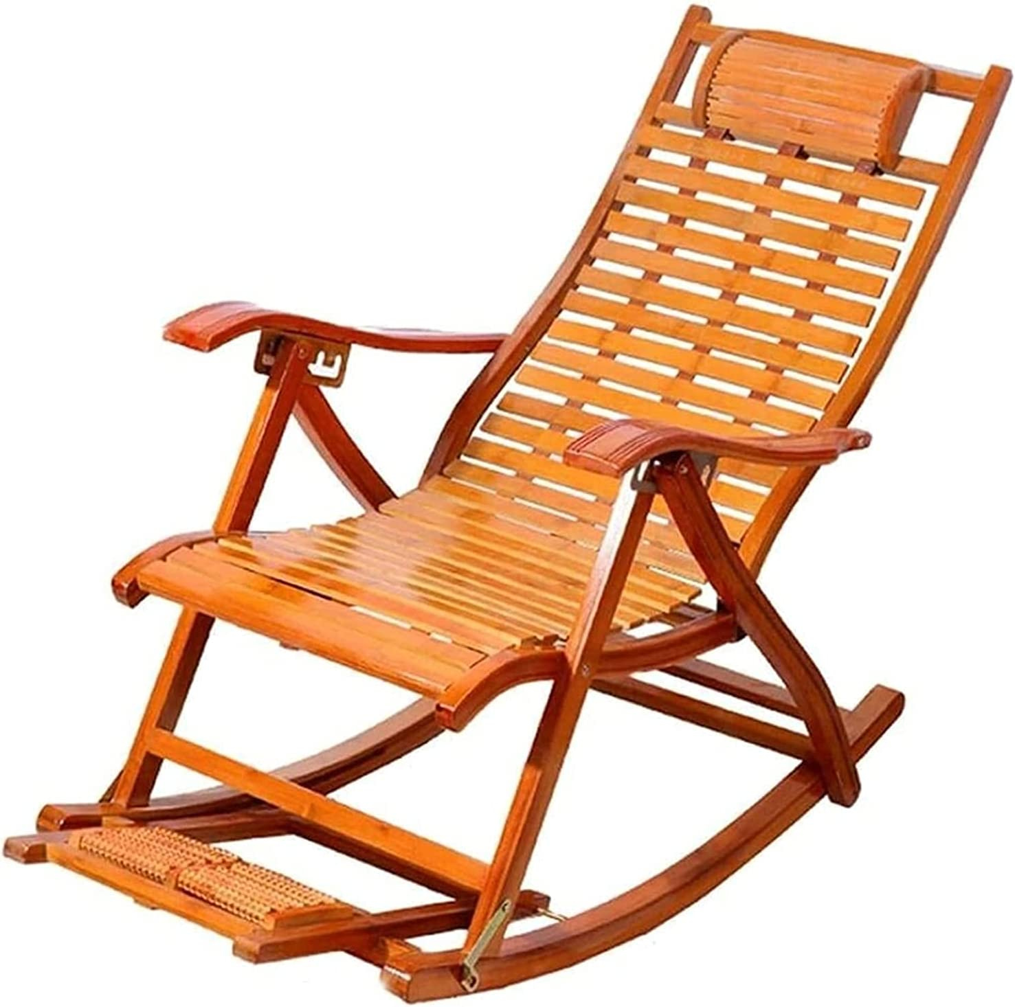 ZHZHUANG Recliners Bamboo Rocking sold out Nashville-Davidson Mall Adult Home Chair Folding