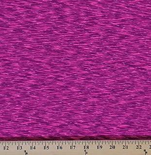 4-Way Stretch Strata Performance Pink Fuchsia White Space Dye Knit Stretch Fabric By the Yard (8938P-6MPink)