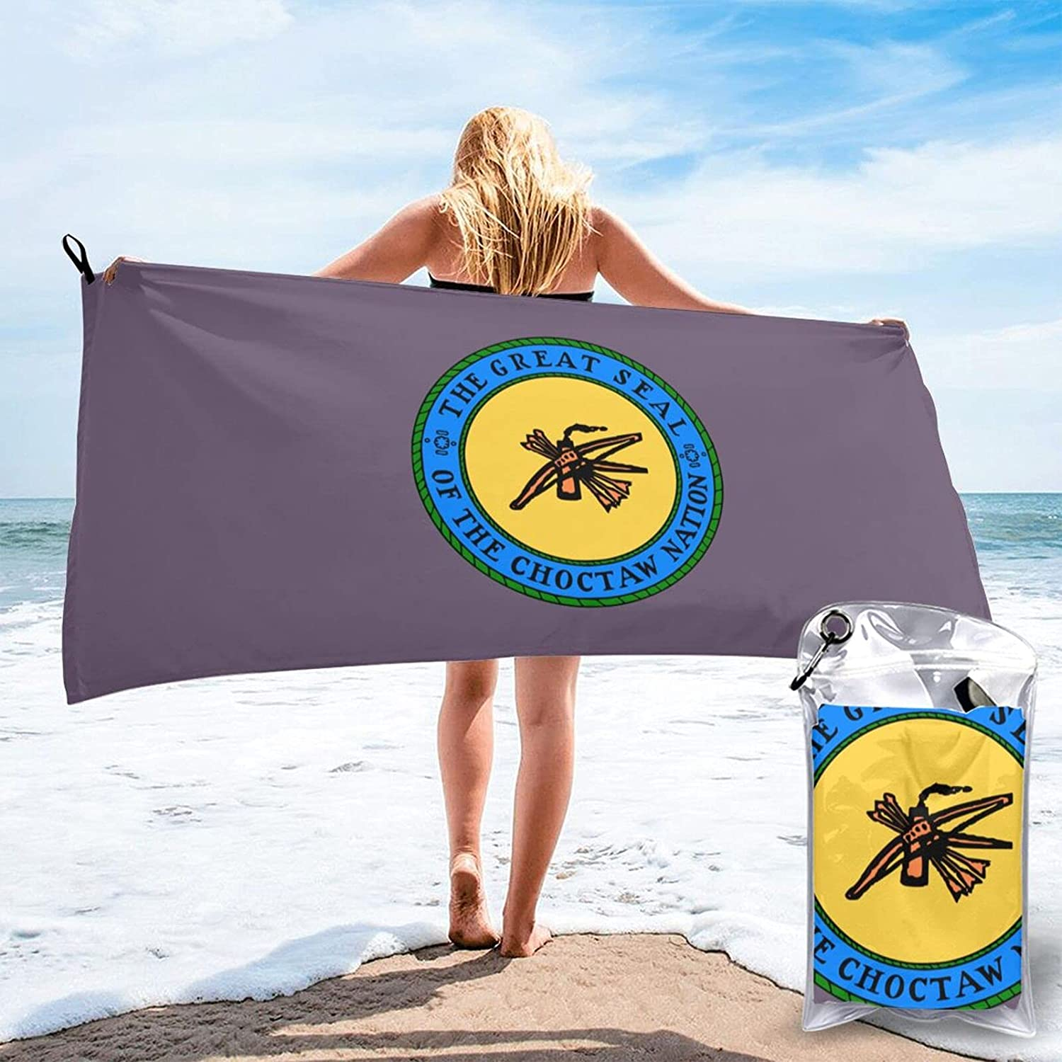 Max 71% OFF Choctaw Tribe Flag Microfiber Quick Towel So Beach Dry Oversized Max 42% OFF