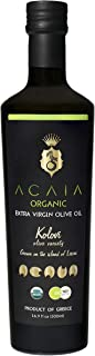 Premium Extra Virgin Greek Olive Oil by ACAIA ORGANIC 16.9oz - 500 ml, Fresh Harvest, Gold Award 2019 NYIOOC, USDA Organic, First Cold Pressed Single Variety, Pure & Natural, Handpicked from Greece