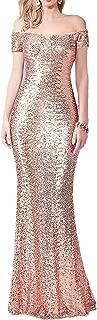 Best rose gold off the shoulder dress Reviews
