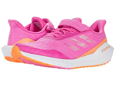 adidas Kids EQ Run Elastic (Little Kid) (Screaming Pink/Screaming Orange/White) Kid