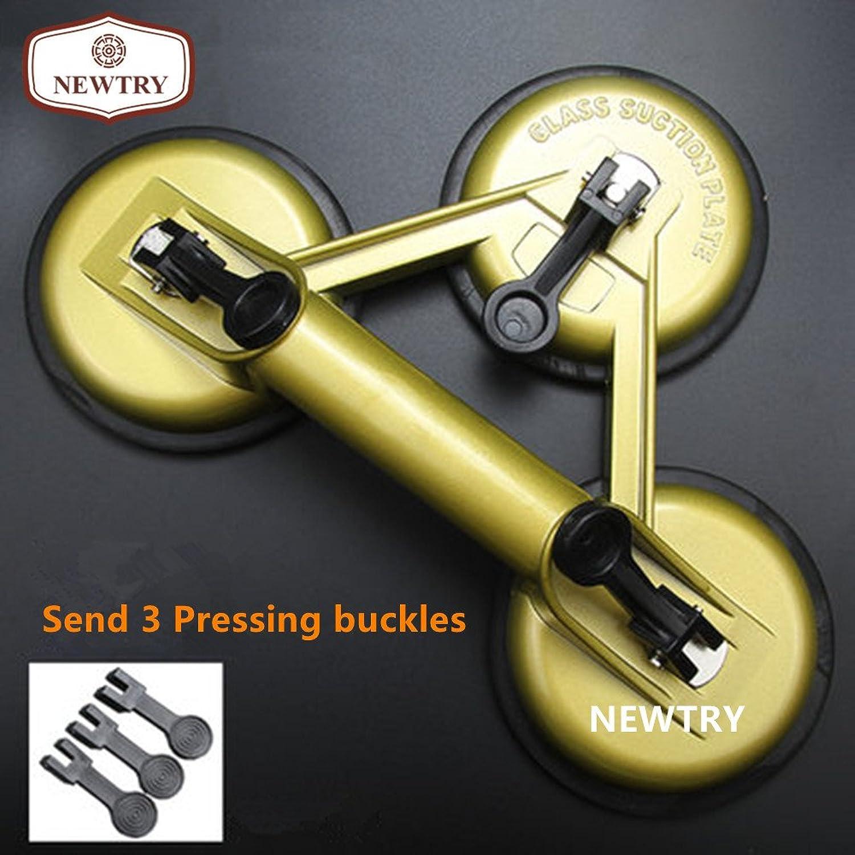 Newtry Vakuum-Saugnapf mit Saugnapf aus Aluminiumlegierung, mit Saugnapf für Granitglas zum Heben, 165 kg Tragkraft (3 Tassen) B079GKQVFR   Verschiedene aktuelle Designs