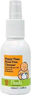 Buds Organics Buds Everyday Organics Nappy Time Rinse-Free Cleanser, 3.38 fl.oz