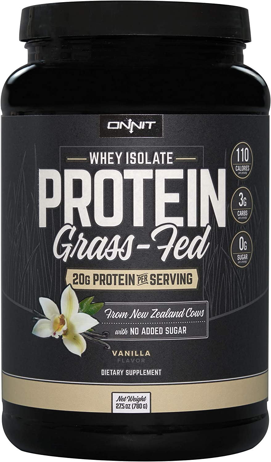 Onnit Grass Fed Whey Topics on TV Isolate 30 Vanilla lowest price - Protein Servings