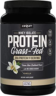 Onnit Grass Fed Whey Isolate Protein - Vanilla (30 Servings)