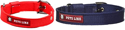 Pets Like Poly Collar, Red (25mm) & Pets Like Poly Collar, Navy Blue (25mm)
