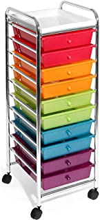 Seville Classics 10-Drawer Organizer Cart, Multicolor (Pearlized)