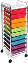 Seville Classics 10-Drawer Organizer Cart, Pearlescent Multi-Color, Multicolor (Pearlized)