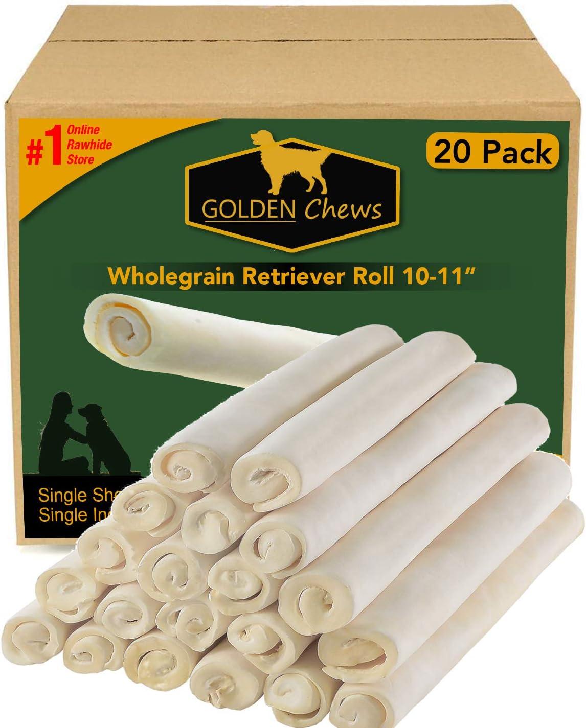 Price reduction Golden Chews Premium Wholegrain Rawhide Roll Pack inch In stock 20 10-11