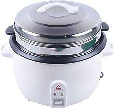 Cuiseur à riz électrique de 13 l avec insert de cuisson à la vapeur pour la cuisson et le maintien au chaud - 4500 W - Rev...
