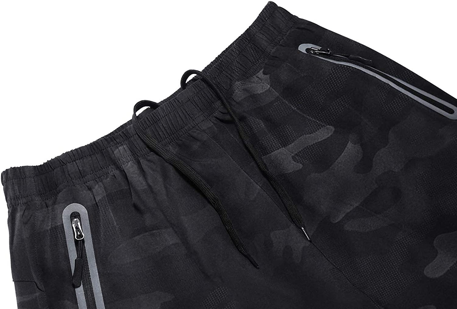 TBMPOY Mens 7 Athletic Running Shorts Quick Dry Shorts with Zipper Pockets