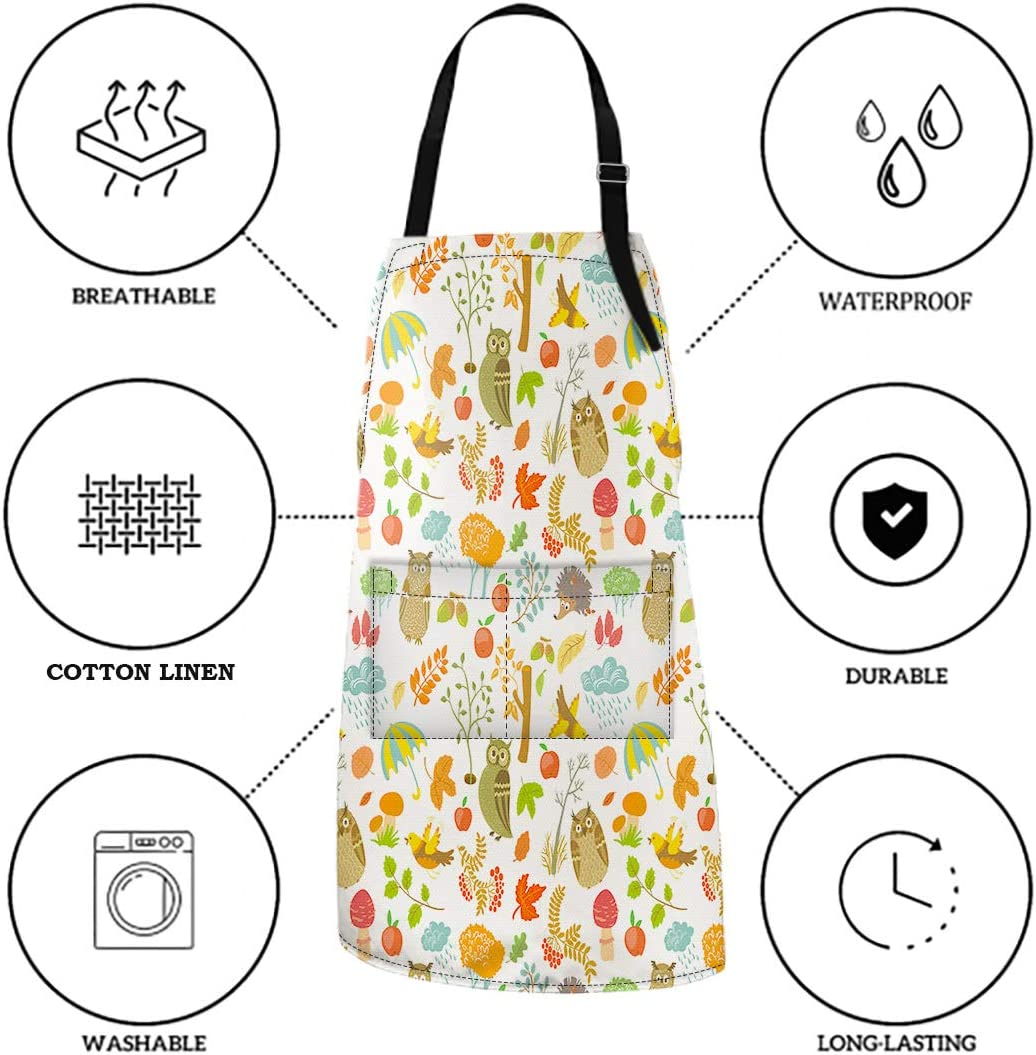 Adjustable Chef Cooking Kitchen Grill Waterproof and Dirt Resistant Apron with Pockets African Woman Throwing Up Bubbles 32x28 Inches. Britimes Aprons for Women Men Kids
