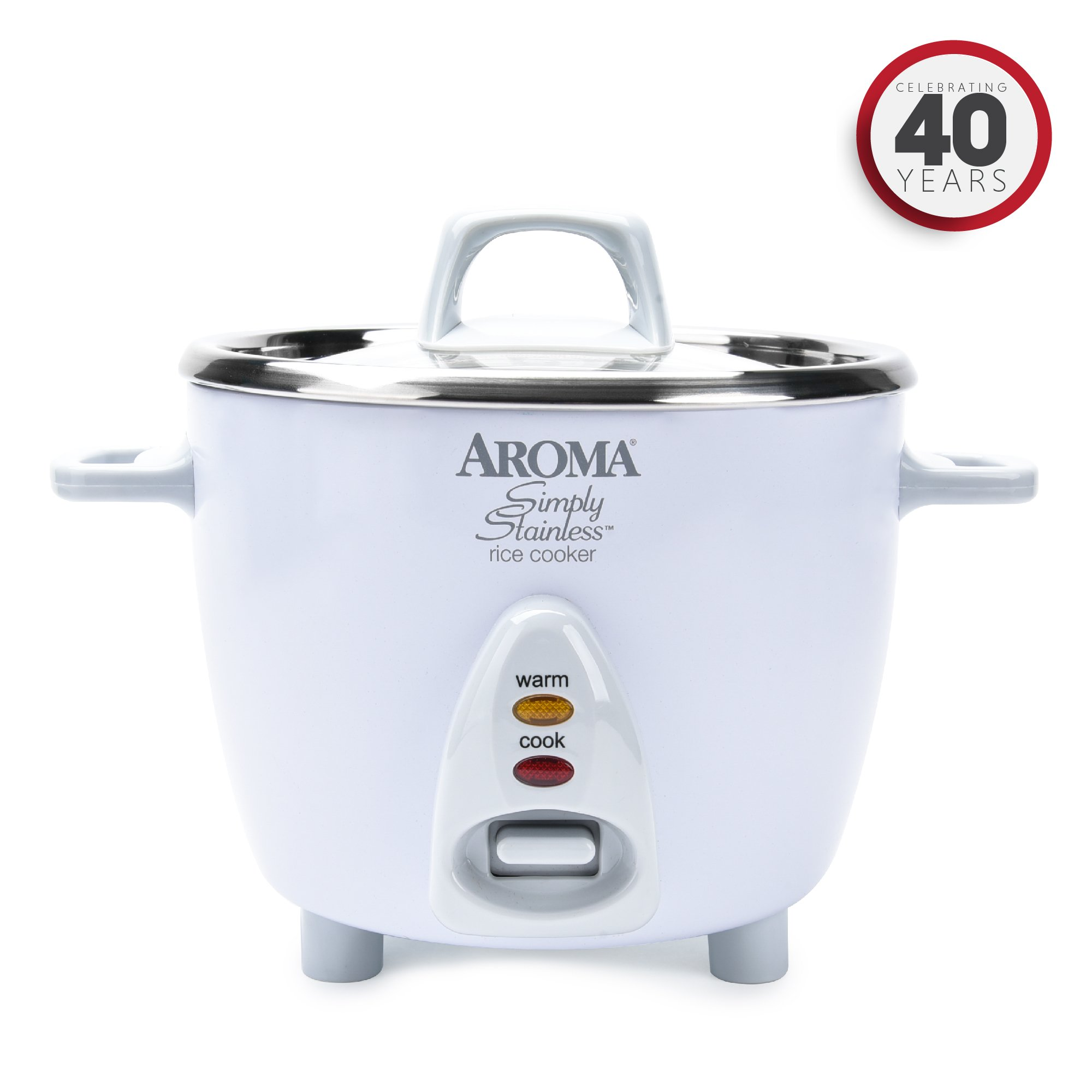 Aroma Simply Stainless Uncooked Cooked