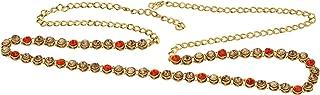 Nishivjewels Designer red lct kundan Waist Belt/Kamar Belt for Women