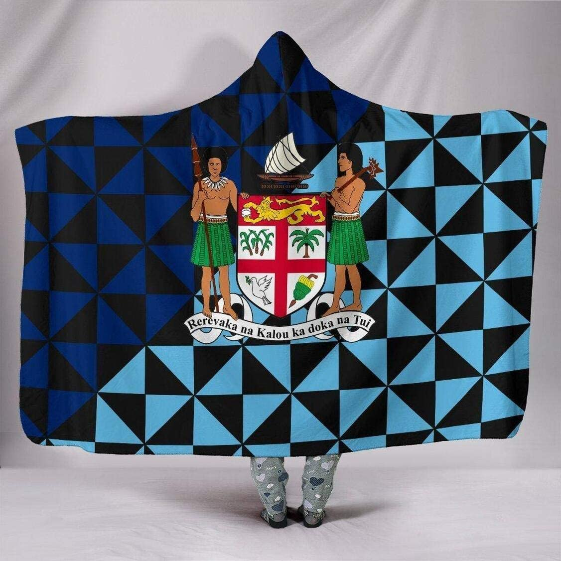 Personalized Fiji Polynesian Hooded Clearance SALE Limited time Blanket of Arms Coat Max 86% OFF