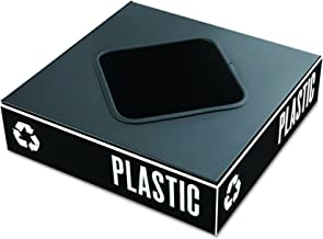 Safco Public Square Recycling Containers Lids, 15 1/4 x 15 1/4 x 2, Black (2989BL)