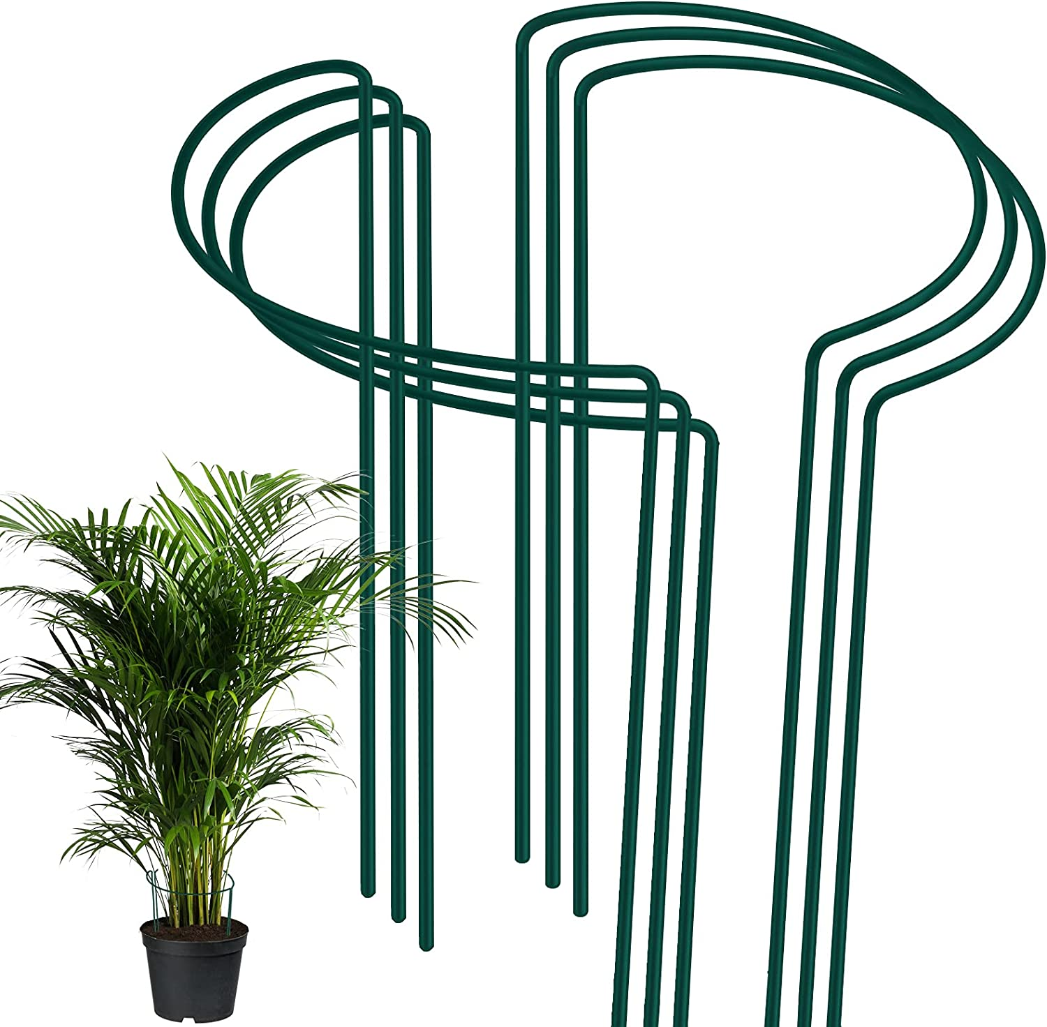 FEED GARDEN Max 71% OFF Popular brand 6 Pack Plant Stak Stakes Support Garden Metal
